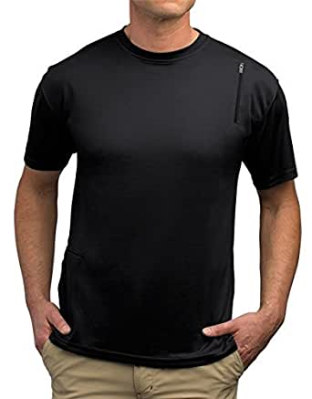 SCOTTeVEST Performance Shirt Short Sleeve - 3 Pockets - Travel Clothing BK S