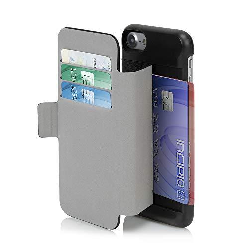 Incipio Leather - iPhone 7 Case, Incipio Wallet Folio Case [Credit Card Case][Vegan Leather] Cover fits Apple iPhone 7 - Black