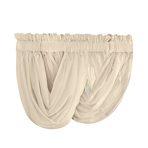 Solid Sheer Pocket Valance Curtain