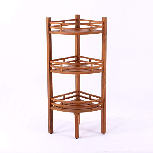 Cambridge-Casual AMZ-250376T Estate Teak Spa/Shower Corner Shelf