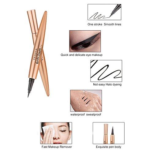 Meisijia fioritura non Up Make Occhi 1x1 matite impermeabili 3CM Penne 13 Liner Eyeliner YANQINA Liquid essiccazione rapida rprq6