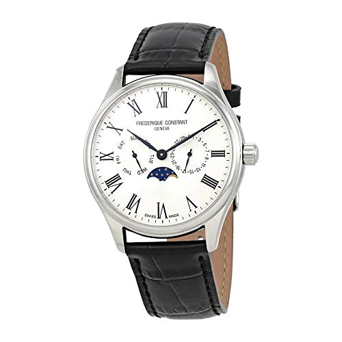 Frederique Constant Classics White Dial Leather Strap Men's Watch FC260WR5B6