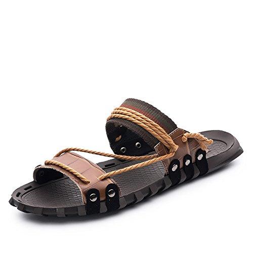 Sandali di estate sandali degli uomini sandali di gomma piuma sandali freddi scarpe da spiaggia scarpe antiscivolo, marrone, UK = 7.5, EU = 41 1/3