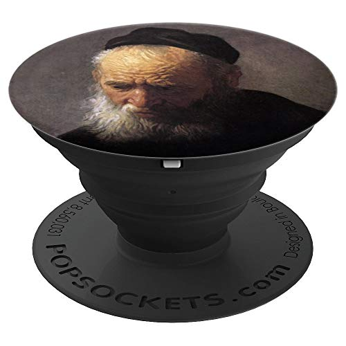 (Rembrandt Painting Head of an Old Man in a Cap - PopSockets Grip and Stand for Phones and Tablets)