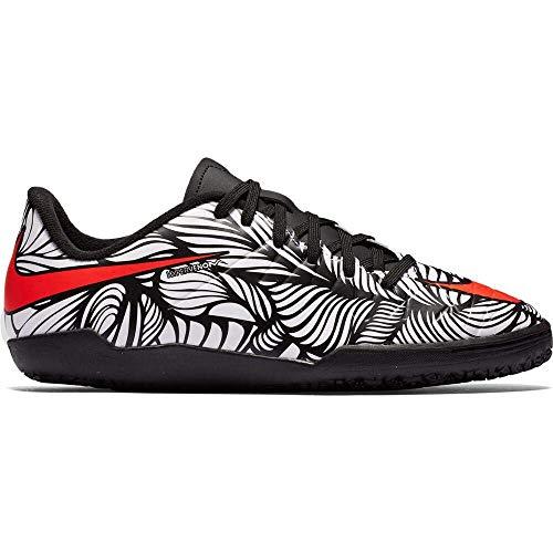 Nike Kids Jr Hypervenom Phelon II NJR IC Indoor Soccer Shoe (12C) Black/White (Kids Soccer Shoes Nike Hypervenom)
