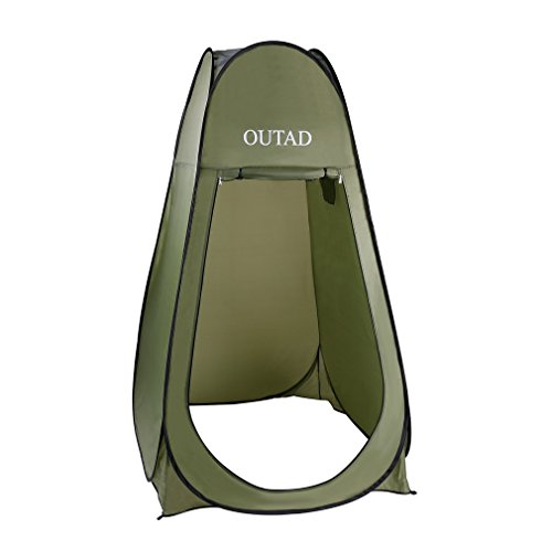 OUTAD Pop Up Shower Tent Privacy Tent with Carrying Bag