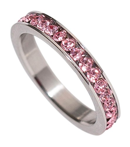 Stackable Birthstone Eternity Band - 3