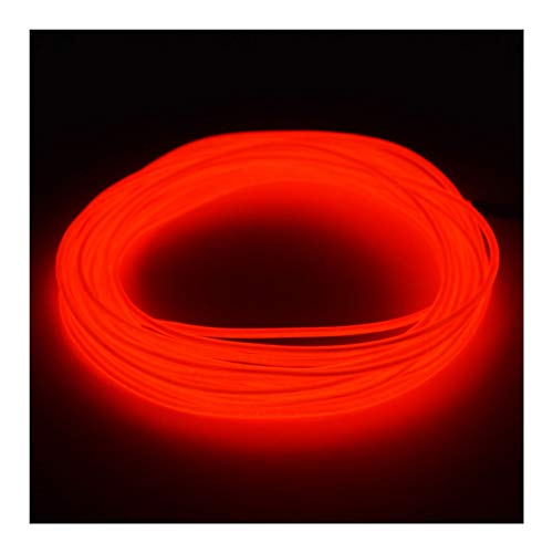 GlowCity Premium Light Up El Wire Kits 2.6mm 5ft Red Lighting]()