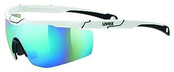 Uvex Sportstyle 117 Lunettes de Soleil Mixte Adulte, Blanc, Taille Unique