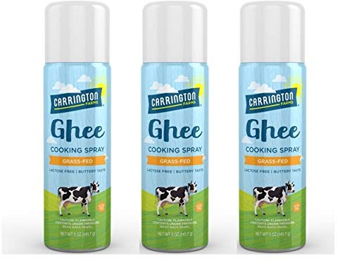 Carrington Farms Ghee Cooking Spray, 5 Ounce (Pack of 3)