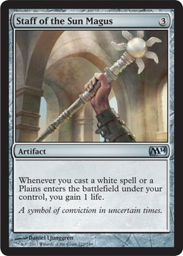 - Staff of the Sun Magus (222/249) - Magic 2014 ()