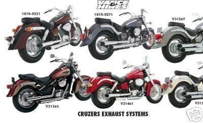 Hines System Exhaust Cruzers (99-04 SUZUKI VZ800: Vance & Hines Cruzers Exhaust)