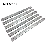 6pcs/2 Set dw734 Planer Blades Knives for DeWalt DW734 7342 Thickness Planers with 12.5 inch HSS Replacement Double Edge