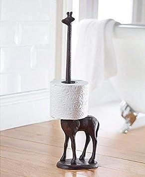 Garden Mile hierro fundido jirafa Papel Higiénico Portarrollos de pie NOVEDAD Dispensador de Rollo de cocina soporte de Suelo Decoración Hogar: Amazon.es: ...