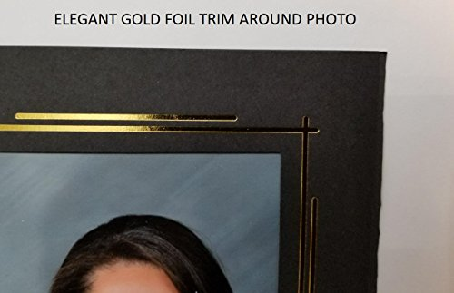 Blacktie Cardboard Photo Folder for 4x6'' Picture. BLACK with GOLD Foil Border (PACK OF 400). Classic & Elegant! This 4x6 paper photomount is ideal for wedding, graduation and photo booth events. by Eventprinters (Image #1)