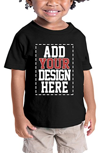 Custom Shirts for Toddlers - Design Your OWN Kids Shirt - Personalized Outfits for Babies Black -