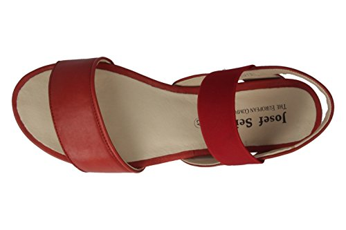 Josef Seibel Jolien 05 - Damen Sandalen - Rot Schuhe in Übergrößen