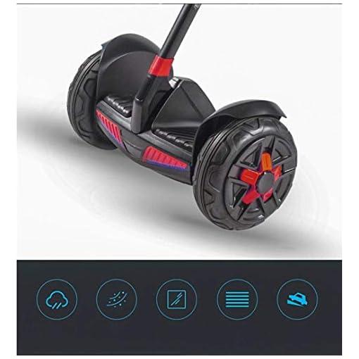 Llpeng Hoverboard Balance Scooter Scooter Auto-équilibrage, Scooter Hors Route Intelligente, Super Batterie Longue Vie 60KM / 54v, Le contrôle du téléphone Mobile (Color : Pure black/60KM)