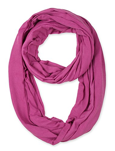 Mulberry Color - corciova Light Weight Infinity Scarf with Solid Colors Mulberry