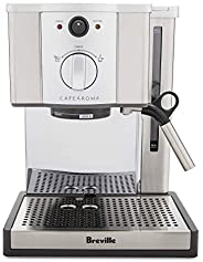Breville Café Roma Espresso Machine ESP8XL - BREESP8XL, Brushed Stainless