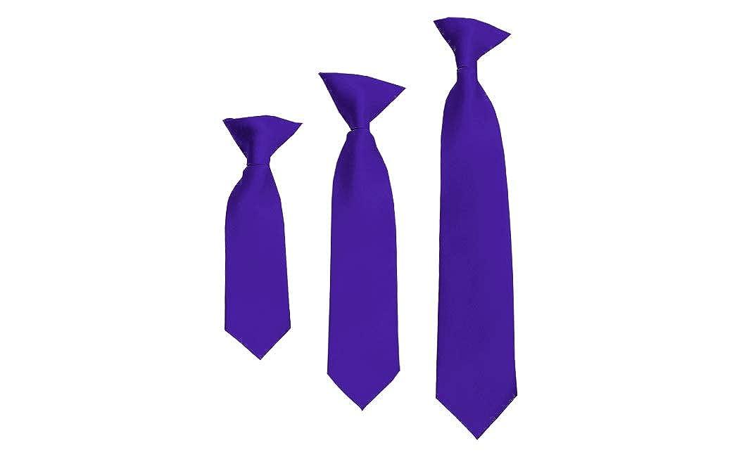 Solid Dark Purple Boys 11 Clip On Tie