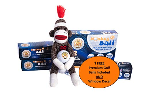 Nice Balls - Slap Your Monkey! A Stress Relief Gag Gift Toy Gadgets | Golf Ball Bag & Head Cover | Funny Golf Gag Gifts For Men | Brings Luck for Nice Shot like the Bird ie | Smack Sack Ball Holder w/ 1 free balls