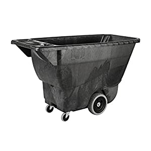 7. Rubbermaid Commercial Polyethylene Box Cart, 450 lbs Load Capacity, Black