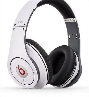 Beats By Dr. Dre Studio White Over-ear Noise Cancelling Headphones w/ Microphone Fast Ship