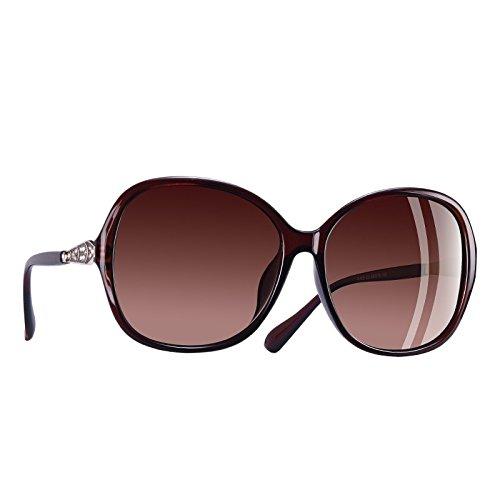 Fuzzy de TIANLIANG04 Classic Rhinestone gafas Frame gafas sobredimensionados polarizadas C3 mujer C5 sol lentes xExvFqwaR