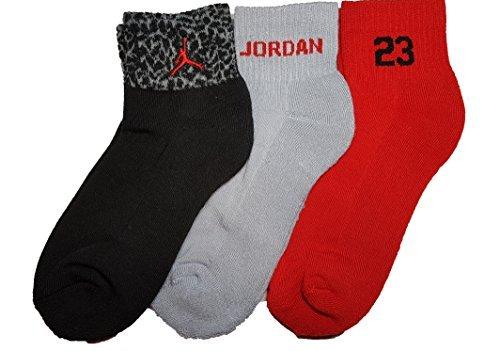 Nike Air Jordan Boys Elephant Print 3 Pr/P Quarter Socks Size - Kids Jordans Sale