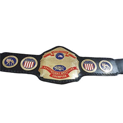 NWA United States Heavyweight Wrestling Championship Replica Title Belt Metal Plates Adult Size -