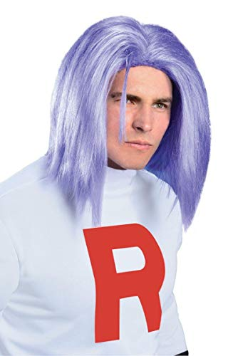 Rubie's Pokémon James Adult Wig, Purple, One Size