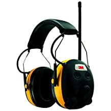 3M Worktunes Hearing Protection Earmuff with AM/FM Radio, Yellow and Black