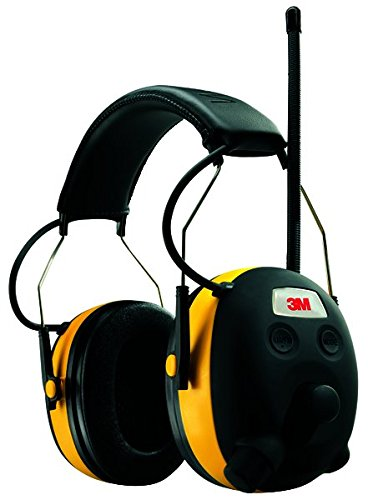 3M WorkTunes Hearing Protector, MP3 Compatible with AM/FM Tuner (90541-4DC) (Retail At Store Home)