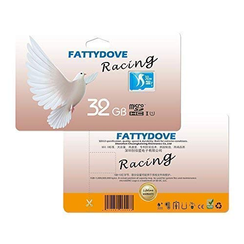 FATTYDOVE Card Class SD Card Real Capacity Memory Card for Cam/Action Camera/GoPro SD Adapter