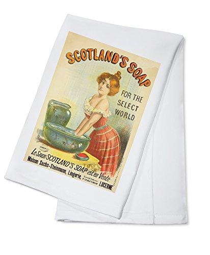 Scotland's Soap (artist: Pal Jean De Paleologue) France c. 1893 - Vintage Advertisement (100% Cotton Kitchen Towel)