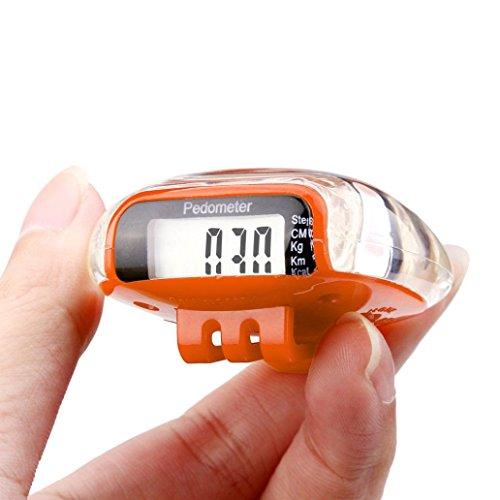 Mini Perman LCD Pedometer Walking Run Step Calorie Distance Calculation Counter (Mini Pedometer)