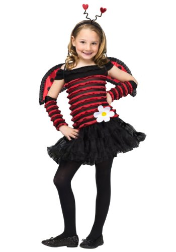 Big Girls' Little Lady Bug Costume Small (4-6)