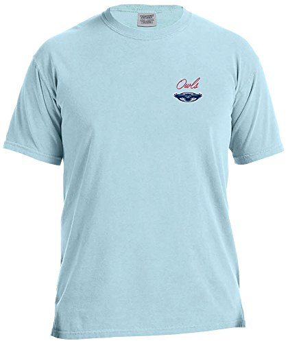 NCAA Florida Atlantic Owls Adult NCAA Marquee Comfort Color Short sleeve T-Shirt,XL,Chambray