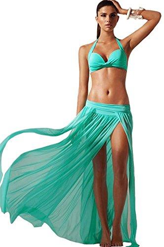 LOVEL - Falda - plisado - para mujer Verde