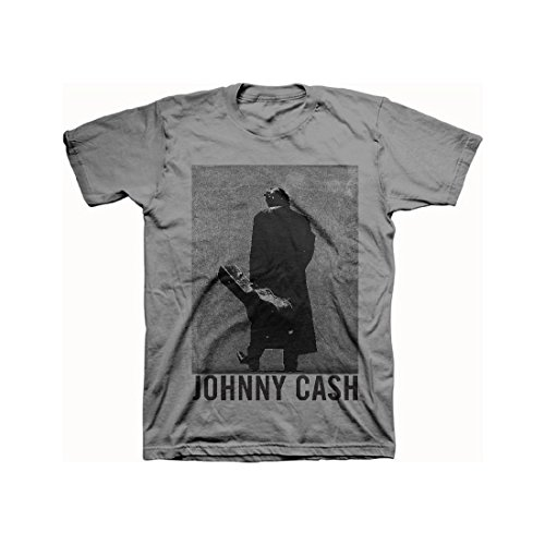 Johnny Cash - Walk The Line Grayscale - Adult T-Shirt - Medium