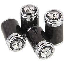 CzlpV 4pcs Carbon Fiber Auto Car Wheel Tire Air Valve Caps Stem Cover fit for Mercedes Benz