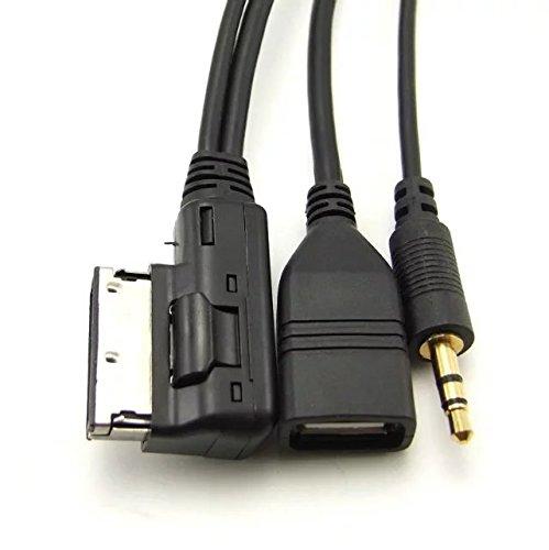 Goliton AMI MDI Stereo 3.5mm /& Female cavo adattatore Aux USB per VW AUDI A4 2014 A6 Q5 Q7