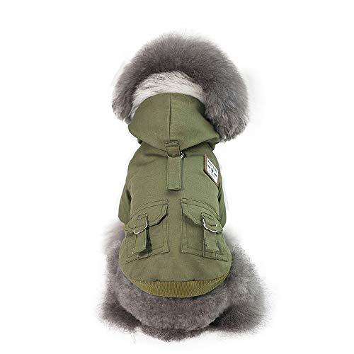 - DENTRUN Dog Vest Coat Winter Cold Weather Jacket Sweater,Pet Cats Jeans Cool Denim,Military Dog Coat Cat Winters Jacket Clothes Vest,Soft Fashionable Shirts Pajamas