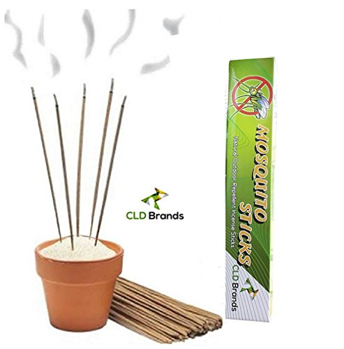 CLD Brands Mosquito Repellent Sticks - Natural Outdoor Incense - Deet Free (Citronella Sticks)