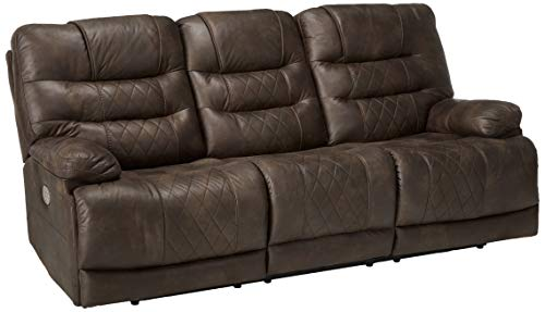 Signature Design by Ashley 5430315 Welsford Power Reclining Sofa, Walnut