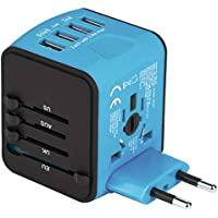 Castries USB Universal Travel Adapter (Blue)