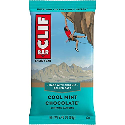 Clifbar Clifbar Clif Bars – 12 Pack Cool Mint Chocolate W/Caffeine, One Size Cool Mint Chocolate W/Caffeine, One Size
