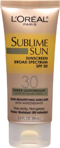 L Oreal Paris Sublime Sun Advanced Sunscreen SPF 30 Lotion, 3.0 Ounce
