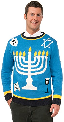 Forum Novelties Men's Outrageous Chanukah Sweater, Multi, Large